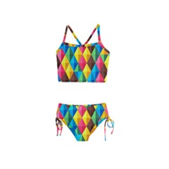 Background Colorful Abstract Girls  Tankini Swimsuit