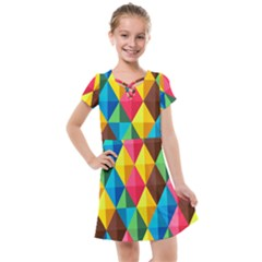 Background Colorful Abstract Kids  Cross Web Dress