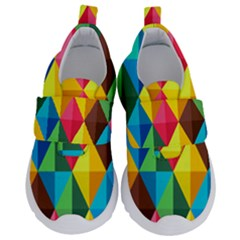 Background Colorful Abstract Velcro Strap Shoes