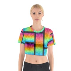 Background Colorful Abstract Cotton Crop Top