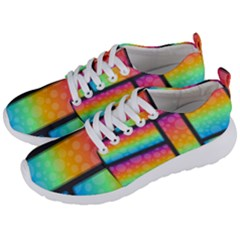 Background Colorful Abstract Men s Lightweight Sports Shoes by Nexatart