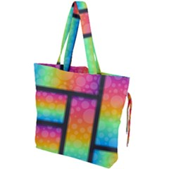 Background Colorful Abstract Drawstring Tote Bag by Nexatart