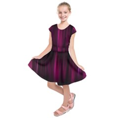 Theater Cinema Curtain Stripes Kids  Short Sleeve Dress