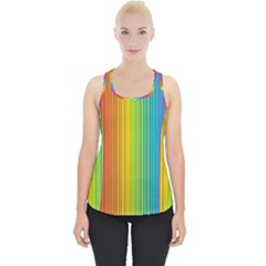 Background Colorful Abstract Piece Up Tank Top