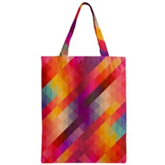 Abstract Background Colorful Pattern Zipper Classic Tote Bag