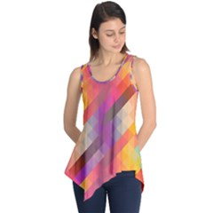 Abstract Background Colorful Pattern Sleeveless Tunic