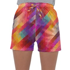 Abstract Background Colorful Pattern Sleepwear Shorts