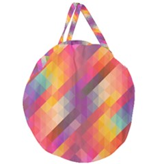Abstract Background Colorful Pattern Giant Round Zipper Tote