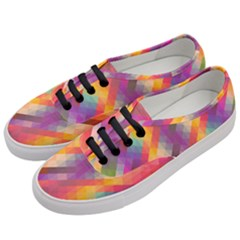 Abstract Background Colorful Pattern Women s Classic Low Top Sneakers by Nexatart
