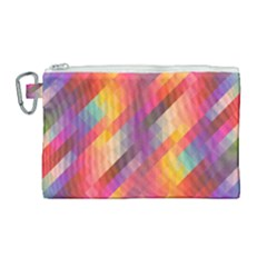 Abstract Background Colorful Pattern Canvas Cosmetic Bag (large) by Nexatart