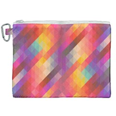 Abstract Background Colorful Pattern Canvas Cosmetic Bag (xxl) by Nexatart