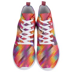 Abstract Background Colorful Pattern Men s Lightweight High Top Sneakers by Nexatart