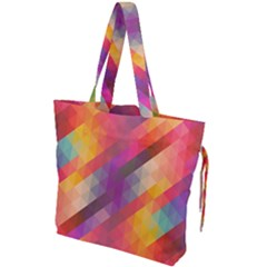 Abstract Background Colorful Pattern Drawstring Tote Bag by Nexatart