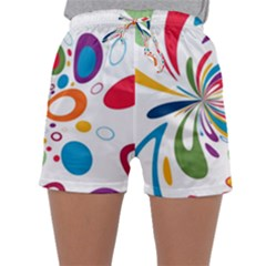 Light Circle Background Points Sleepwear Shorts