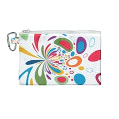 Light Circle Background Points Canvas Cosmetic Bag (medium) by Nexatart