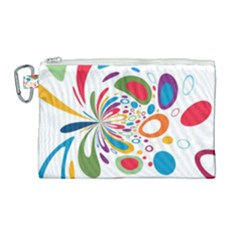 Light Circle Background Points Canvas Cosmetic Bag (large) by Nexatart