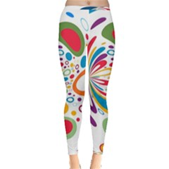 Light Circle Background Points Inside Out Leggings by Nexatart