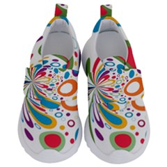 Light Circle Background Points Velcro Strap Shoes by Nexatart