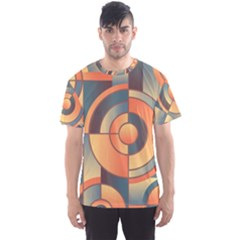 Background Abstract Orange Blue Men s Sports Mesh Tee