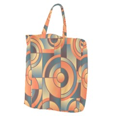 Background Abstract Orange Blue Giant Grocery Tote