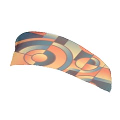 Background Abstract Orange Blue Stretchable Headband