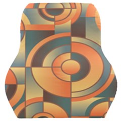 Background Abstract Orange Blue Car Seat Back Cushion