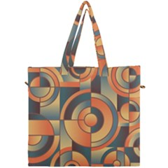 Background Abstract Orange Blue Canvas Travel Bag by Nexatart