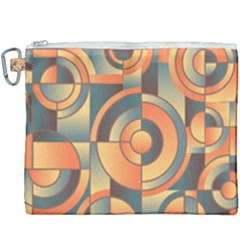 Background Abstract Orange Blue Canvas Cosmetic Bag (xxxl) by Nexatart