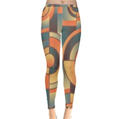 Background Abstract Orange Blue Inside Out Leggings