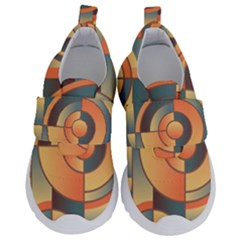 Background Abstract Orange Blue Velcro Strap Shoes