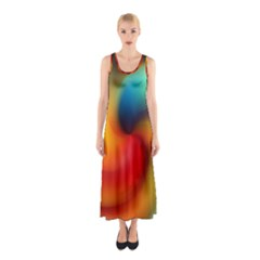 Abstract Spiral Art Creativity Sleeveless Maxi Dress by Nexatart