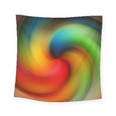 Abstract Spiral Art Creativity Square Tapestry (small)