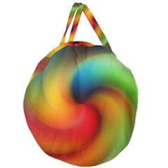 Abstract Spiral Art Creativity Giant Round Zipper Tote