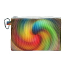 Abstract Spiral Art Creativity Canvas Cosmetic Bag (large)