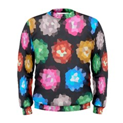 Background Colorful Abstract Men s Sweatshirt