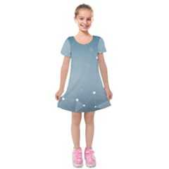 Background Abstract Line Kids  Short Sleeve Velvet Dress by Nexatart