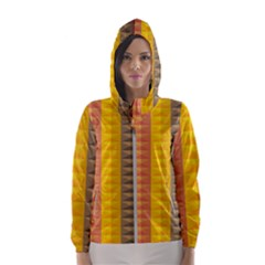 Abstract Pattern Background Hooded Windbreaker (women)
