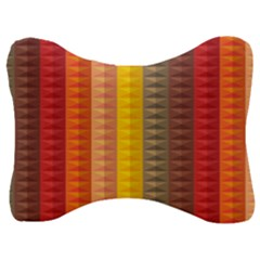 Abstract Pattern Background Velour Seat Head Rest Cushion
