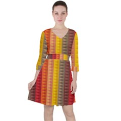 Abstract Pattern Background Ruffle Dress
