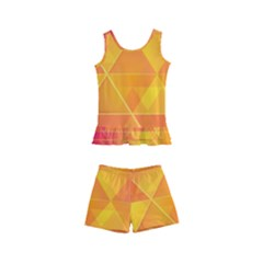 Background Colorful Abstract Kid s Boyleg Swimsuit
