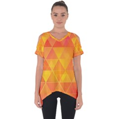 Background Colorful Abstract Cut Out Side Drop Tee