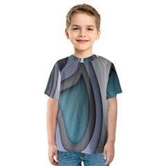Abstract Background Abstraction Kids  Sport Mesh Tee