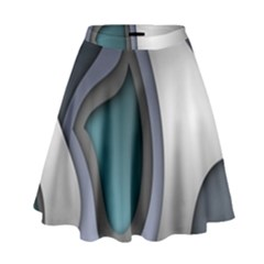 Abstract Background Abstraction High Waist Skirt by Nexatart