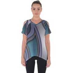 Abstract Background Abstraction Cut Out Side Drop Tee
