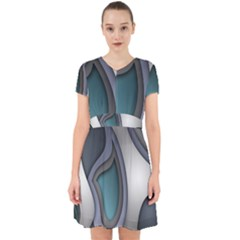 Abstract Background Abstraction Adorable In Chiffon Dress