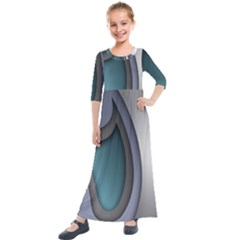 Abstract Background Abstraction Kids  Quarter Sleeve Maxi Dress by Nexatart