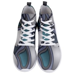Abstract Background Abstraction Men s Lightweight High Top Sneakers
