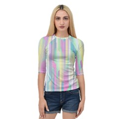 Background Abstract Pastels Quarter Sleeve Raglan Tee