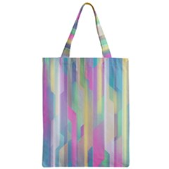 Background Abstract Pastels Zipper Classic Tote Bag