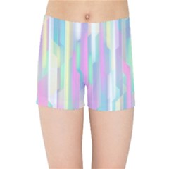 Background Abstract Pastels Kids Sports Shorts